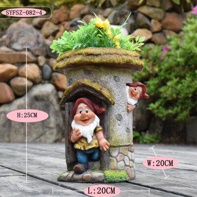 Kindergarten flower pot ornament (5)