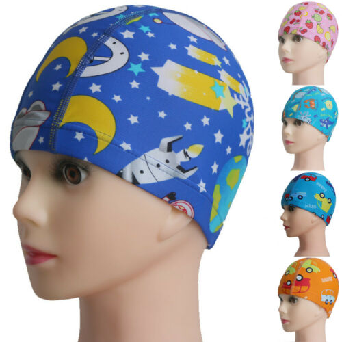 Cartoon Stretchy Children Swimming Cap Silicone Swimming Hat