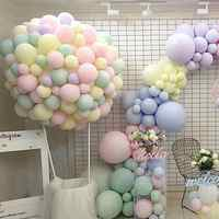 100pcs Balloons 10inch Macaron Color Latex Balloons Wedding Decoration Baby Birthday Party Valentine's Day Decoration Balloon