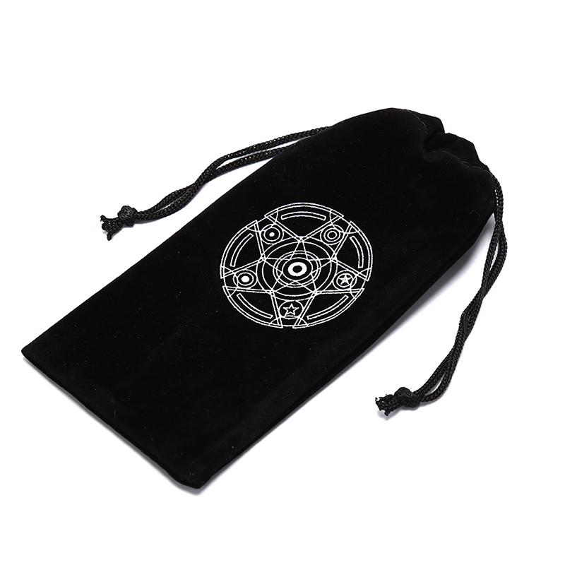 1PCS Six Awn Star Velvet Tarot Card Storage Bag Mini Tablets Bundle Pockets Pokemon Cards Drawstring Bags