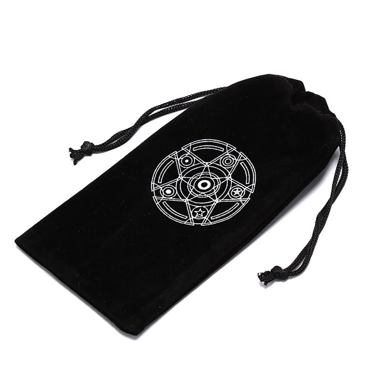 1PCS Six Awn Star Velvet Tarot Card Storage Bag Mini Tablets Bundle Pockets Pokemon Cards Drawstring Bags