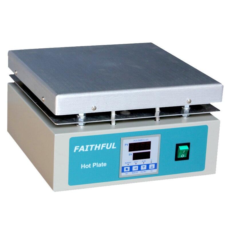 Placa de calefacción de laboratorio SH-5C, pantalla de Control Digital de temperatura de Panel de aluminio de 30x30 cm