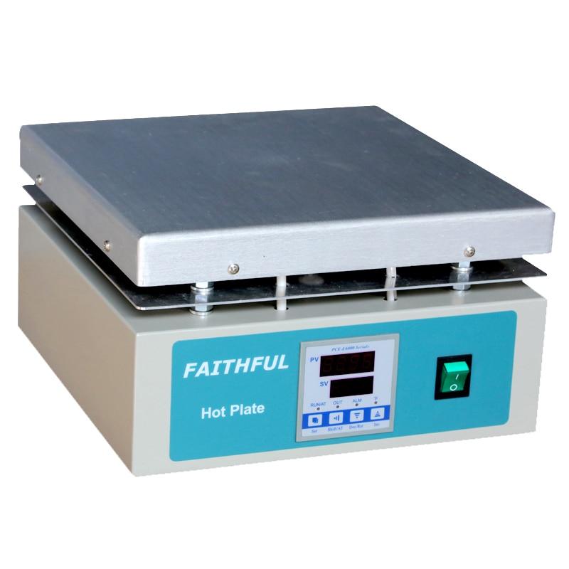 SH-5C Piastra di Riscaldamento Laboratorio piastra Calda, 30x30 cm Pannello In Alluminio Piastra di Controllo Digitale della Temperatura Display