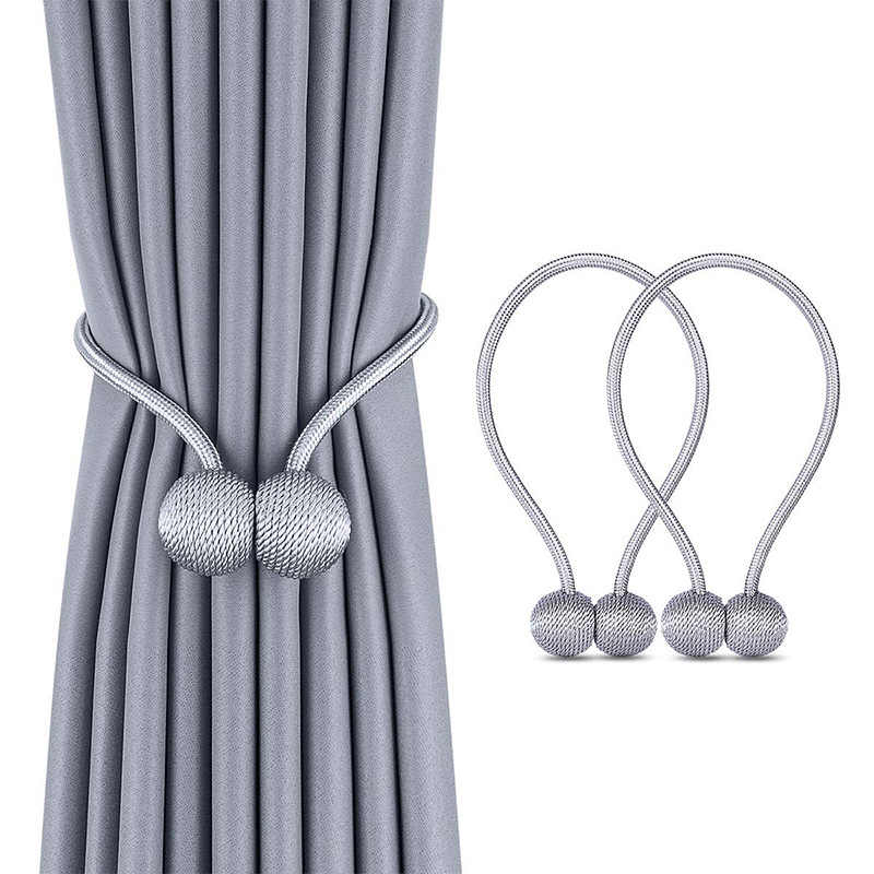 New Pearl Magnetic Ball Curtain Simple Tie Rope Backs Holdbacks Buckle Clips Accessory  Rods Accessoires Hook Holder Home Decor