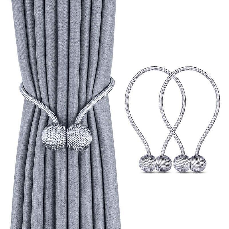 Nouveau perle magnétique boule rideau Simple cravate corde dos Holdbacks boucle Clips Accessoires tiges Accessoires support de crochet décor à la maison
