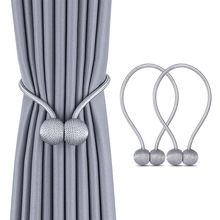 Nova pérola magnética bola cortina simples gravata corda costas holdbacks fivela clipes acessórios hastes accessoires gancho titular decoração da sua casa