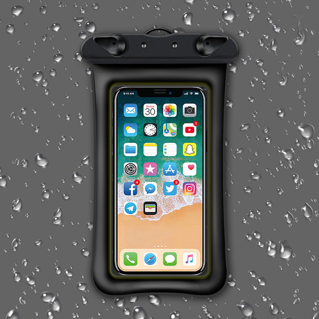 6 Inch Float Airbag Waterproof Swimming Bag Mobile Phone Case Cover Dry Pouch