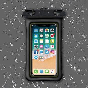 1e0221ac81a Bolsa de aire flotante de 6 pulgadas impermeable bolsa de natación funda de  teléfono móvil funda seca bolsa de buceo Universal Drifting Riving Trekking  ...
