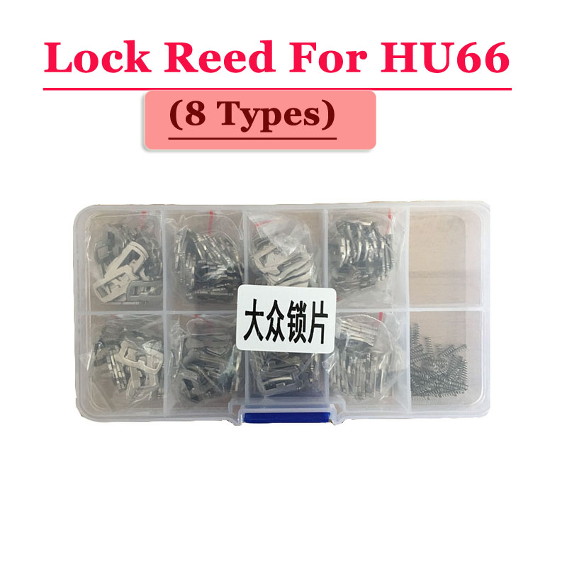 Free shipping (200pcs/box )hu66 car lock reed locking plate for vw lock (each type 25pcs) Repair Kits 200pcs lot hu92 car lock reed locking plate hu92 car locks tablets lock spring car locksmith tools