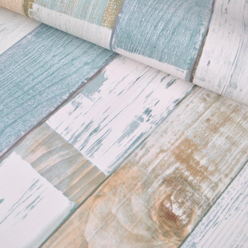 Designer rustic embossed wood panel wallpaper vintage stripe feature ...
