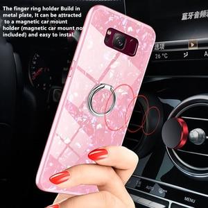 Image 3 - Für Samsung Galaxy S8 S9 S10 Plus Hinweis 8 9 Marmor Muster Gehärtetem Glas Telefon Fall Für Samsung Galaxy S10e s10 Lite Abdeckung Funda