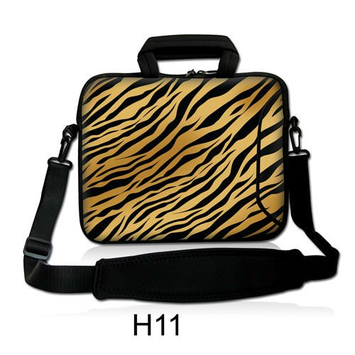 Neoprene Laptop Shoulder Bag Cover Tiger Print Design 1013141517 Notebook Sleeve Case Handle Carry Pouch For Macbook Asus