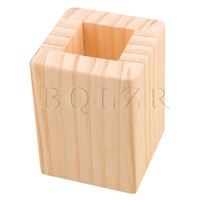 3cm Closed Square Hole Wood Furniture Lifter Bed Table Riser Add 5cm BQLZR