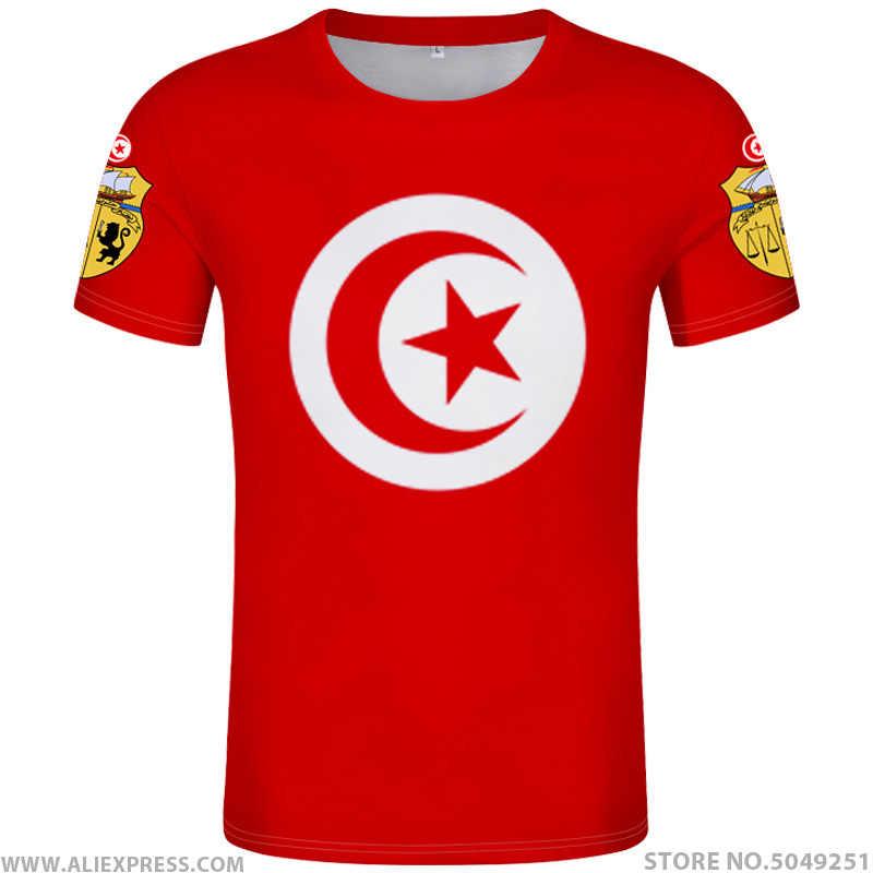 Тунис футболка собственными руками Сделай Сам бесплатная пользовательское имя номер Тун футболка нации tunisie tn Ислам Арабский арабские печати фото 0 одежда