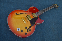 Chinese Music Instruments Archtop Body Hollow Jazz ES 335 Guitar 5 Way Switch In Stock