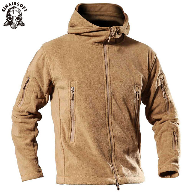 3cda8cdaae19b SINAIRSOFT Outdoor Sports Camping Hiking Jackets Men's Clothing Tactical  Fleece Jacket Warm Fleece Coat For Men Hunting