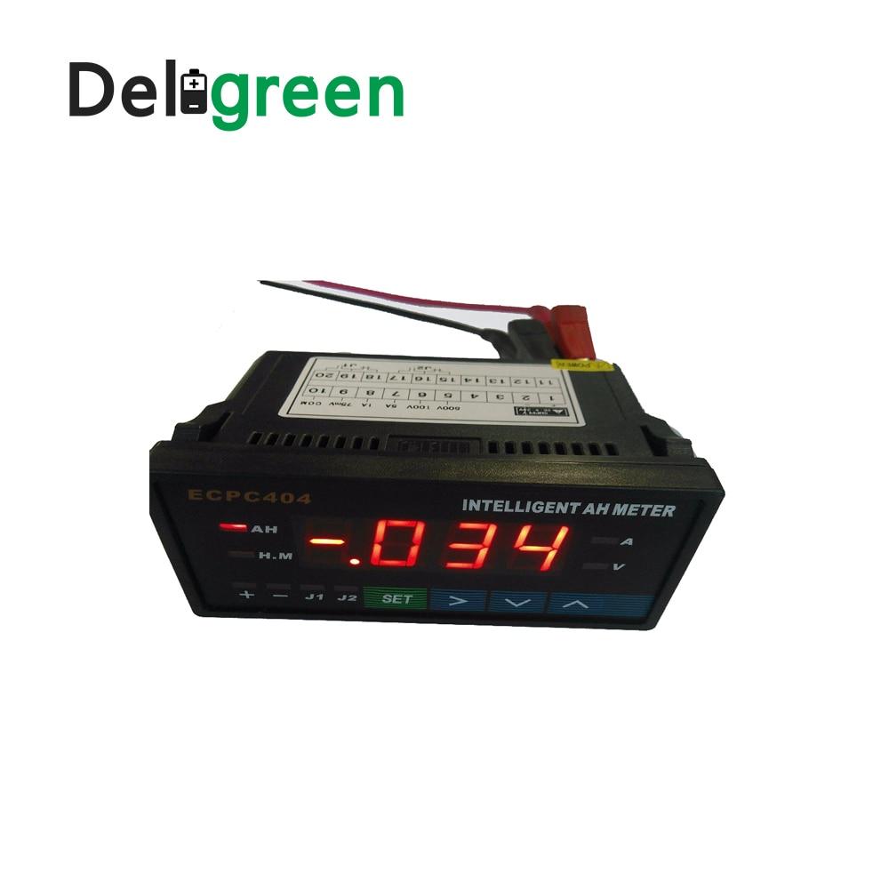20pcs Deligreen Hot seller Intelligent Amp Hour METER HB404 with Blue Red Digital Display ECPC404 JLD404