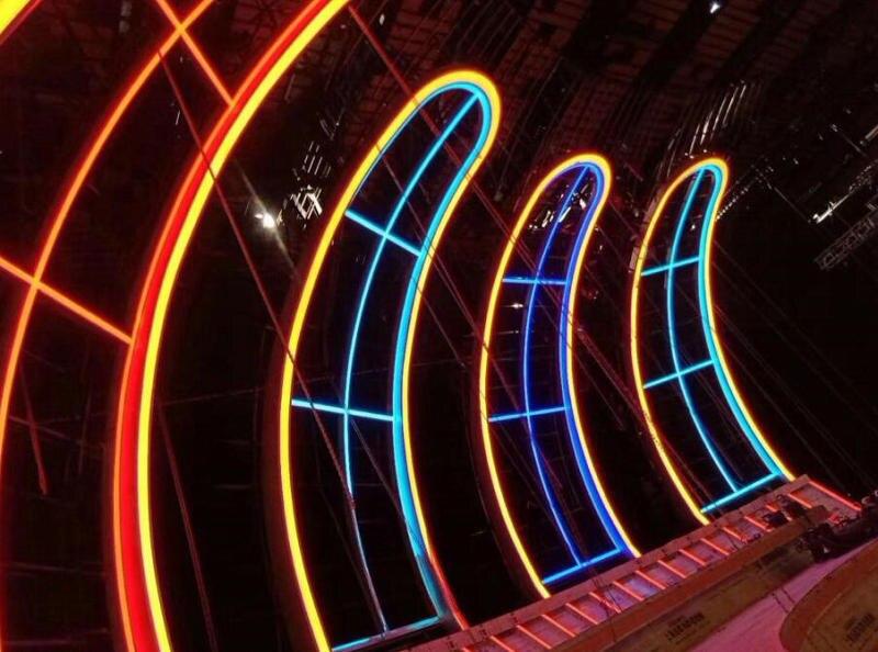 DC12V светодиодный неоновая веревка свет SMD 2835 120 светодиодный s/m Водонепроницаемый Гибкая мягкая полоса Бар Потолочные светильники 2,5 см можно резать 10 м - 6