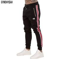Black Friday New Fashion Tracksuit Bottoms Mens Pants Cotton Sweatpants Mens Joggers Striped Pants Gyms Clothing