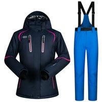 Ski Suit Women's Super Warm Clothing Women Skiing Snowboard Jacket and Pants Suit Set Windproof Waterproof Winter Ski Sport Wear