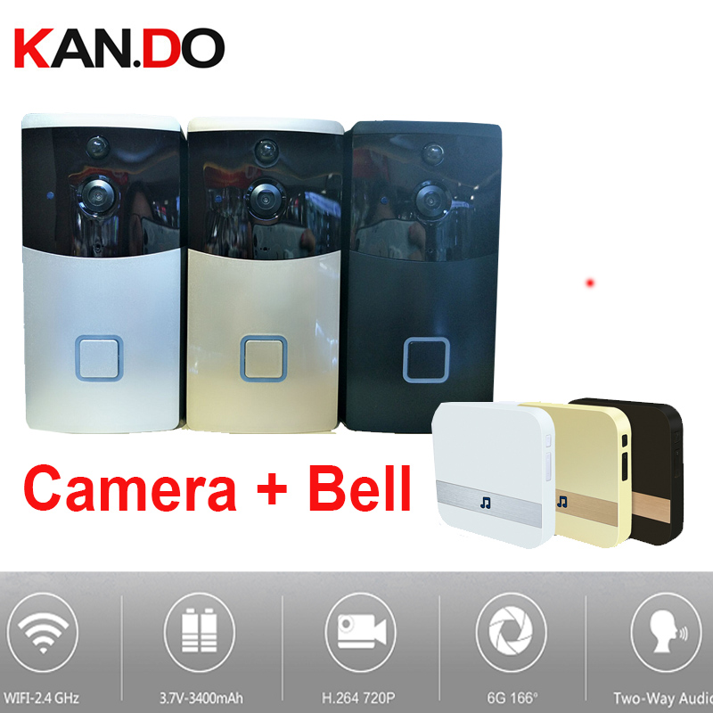 PIR Video Doorbell Camera WiFi IP Camera WiFi Door Bell Camera Lens 170 Video Door Camera BY 18650 BATTERY 6 Months Standby