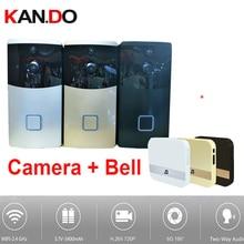 PIR Video Doorbell camera WiFi IP Camera WiFi Door Bell camera lens 170 video door camera BY 18650 BATTERY 6 months standby