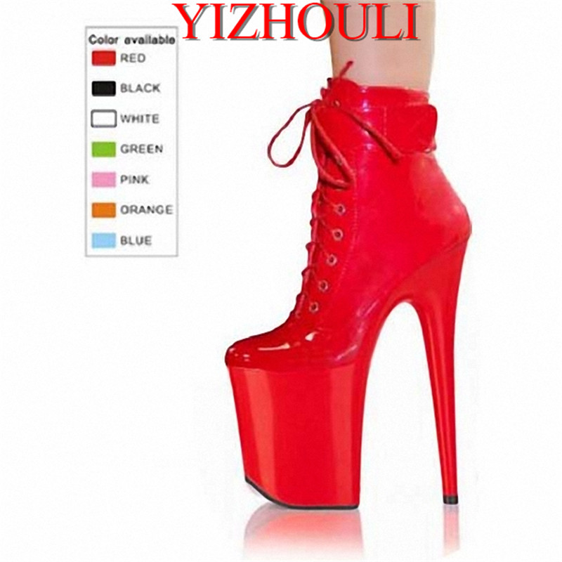 8 inch winter motorcycle boots sexy solid buckle ladies boots bridal shoes wedding shoes 20cm high