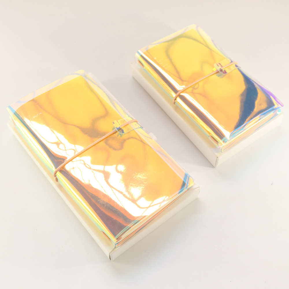 все цены на Domikee cute creative laser PVC portable traveler journal notebooks stationery,fine person traveling diary planner notebooks онлайн