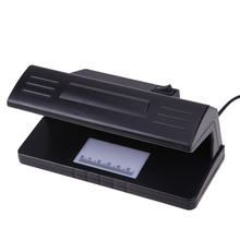 110V~220V 4W Portable UV Light Practical Counterfeit Bill Currency Fake Money Detector Checker with ON/OFF Switch EU Plug