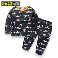 Pioneer Camp Kids 2017 Autumn Clothes Baby Boys Clothing Set Baby Boys Girls Clothing Boutique Children