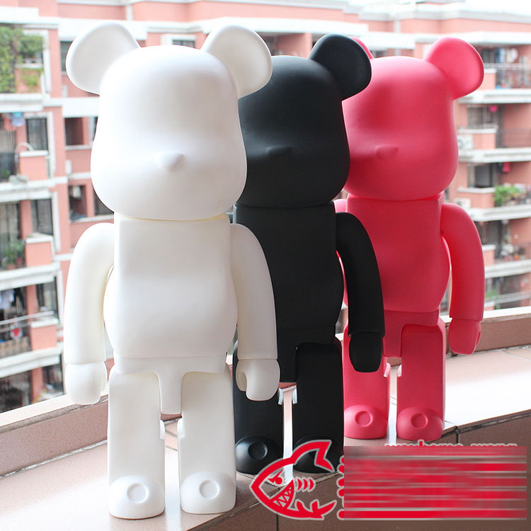 High quality! Oversize 52cm Bearbrick Be@rbrick matt DIY PVC Action Figure Toys Bearbrick Blocks vinyl doll 3 color Optional