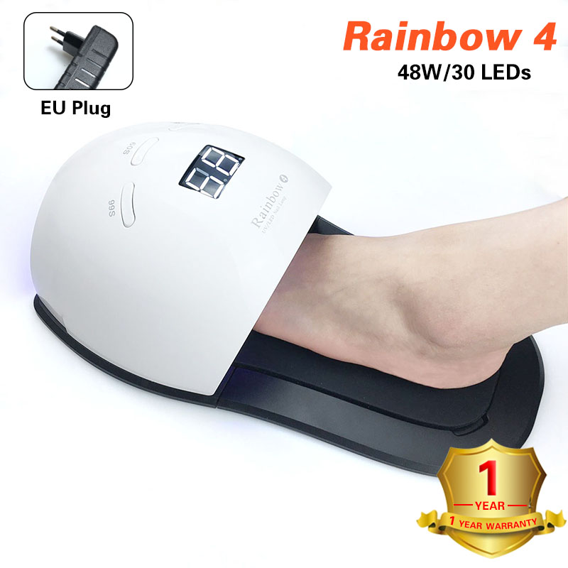 Nail Dryer 48W UV Lamp Rainbow4 Led Lamp For Gel Varnish Drying With 30 LEDs  Fast Dry  With Feet Bottom Lamp For Manicure