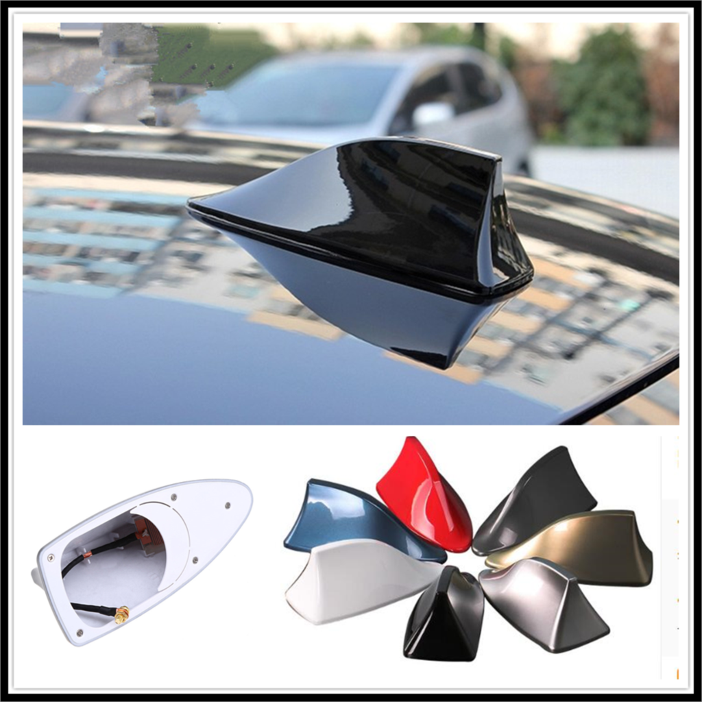 2019 Hot Shark Fin Antenna Stereo Cover Car Signal Radio AM// FM Aerial Silver