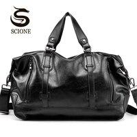 Mode herren Reisetaschen Gepäck Wasserdichte Koffer Seesack Große Große Kapazität Taschen Casual High-Kapazität PU Leder handtasche