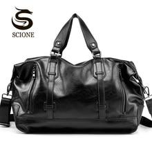 Sac à main en cuir PU, valise étanche, grande capacité, sac à main, valise, grande capacité sacs de voyage pour hommes, tendance décontracté