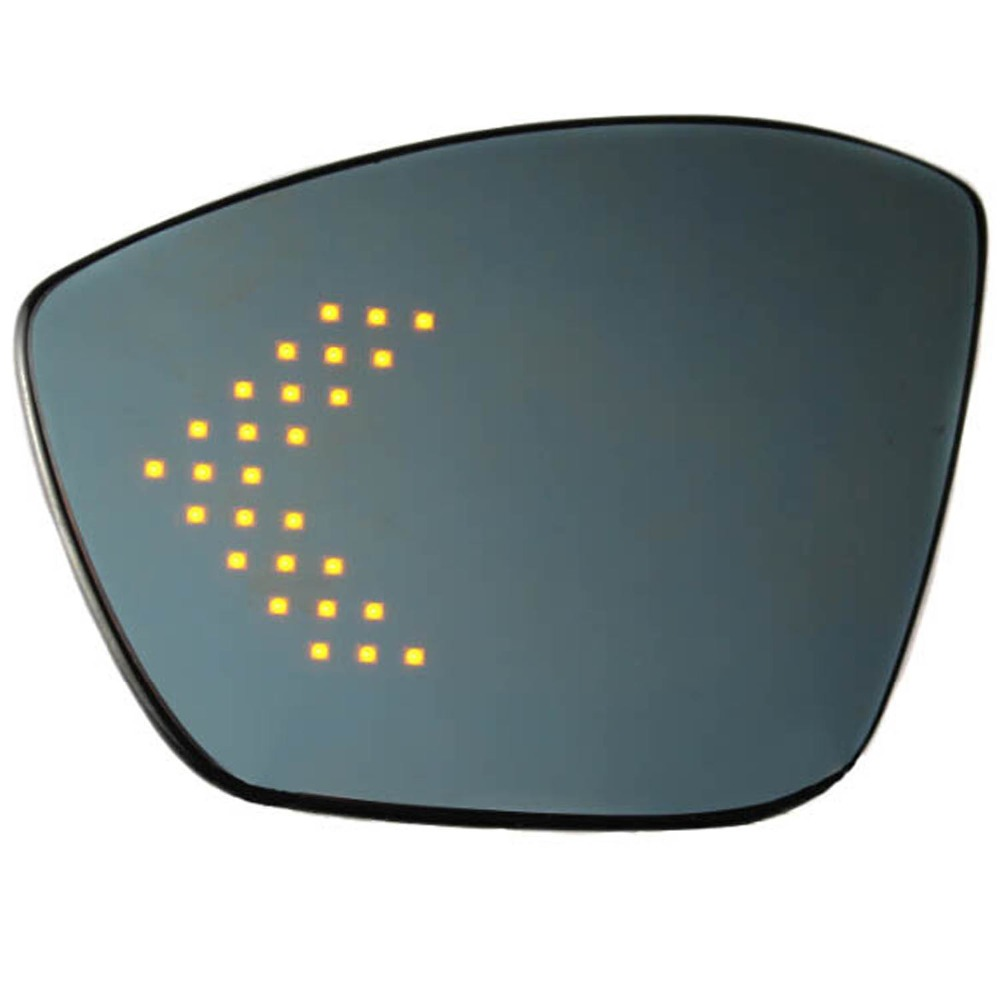 Wing door rear view <font><b>mirror</b></font> for <font><b>Peugeot</b></font> 2008 308 <font><b>408</b></font> with led arrow turn signal multi-curvature blue wide angle heat demist parts image