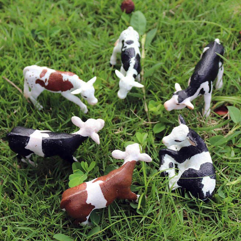 Oenux オリジナル家畜牛ふくらはぎ牛牛牛シミュレーション PVC モデルアクションフィギュア家禽動物置物玩具キッズギフト