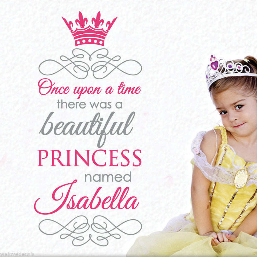 Nice 2 Color Once upon a time Custom Name Princess Quotes