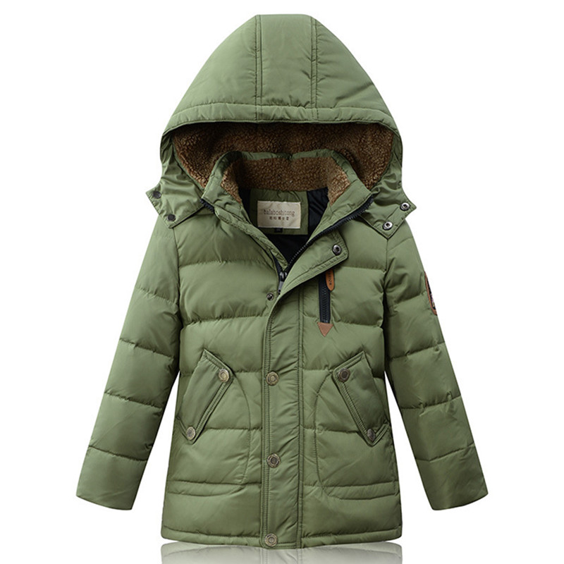 Duck Down Jacket for Boys 2017 Russia Winter Warm Thick  Down Parkas Children Casual Fur Hooded Jackets / Coats -30 Degrees russia winter boys girls down jacket boy girl warm thick duck down