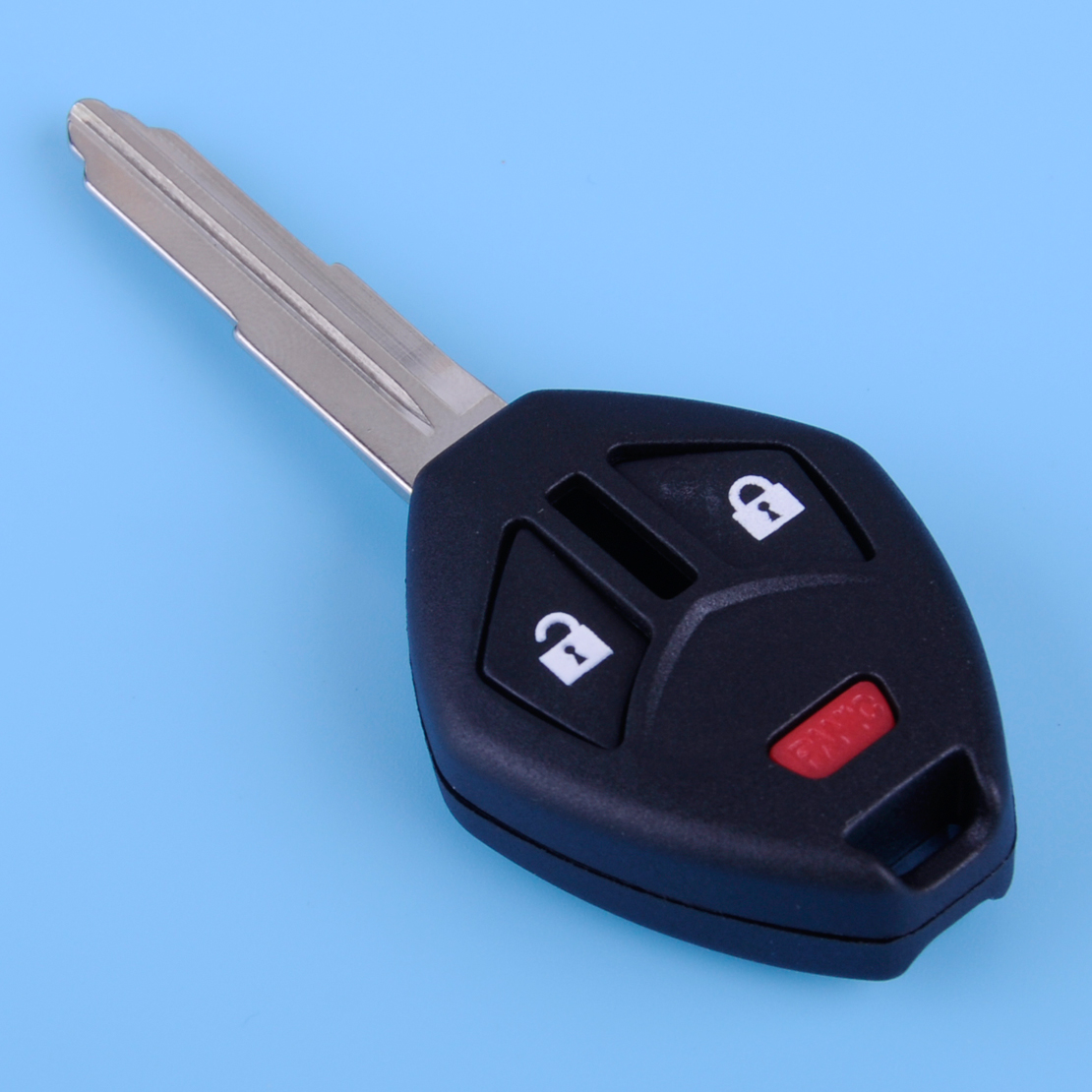 DWCX New Car 3 Buttons Uncut Remote Key Fob Case Shell With Blade Fit For Mitsubishi Eclipse Galant Lancer