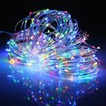 32M Waterproof Solar Power Wire LED Fairy Light 300 LED String Light Colorful Outdoor Lighting Christmas Party Decor Lamp