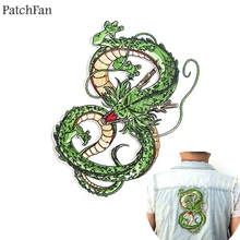 Patchfan Dragon ball z Shenron applique patches diy iron on para jeans bag shirt clothes punk stickers embroideried badges A1268