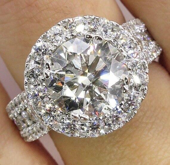 HTB1UzVtNpzqK1RjSZFoq6zfcXXaK 14K White Gold Diamond Rings Jewelry for Women Bizuteria Anillos Bague Jaune Ring Diamante Diamond Gemstone 2 carats topaz rings