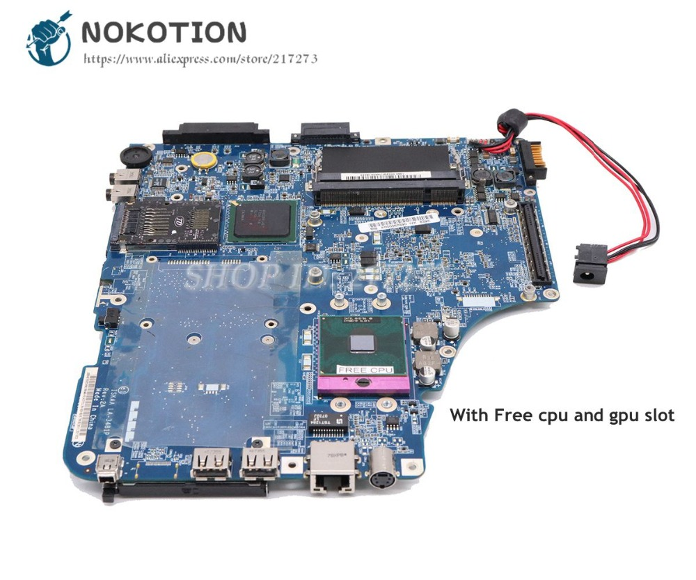 NOKOTION For Toshiba Satellite <font><b>A200</b></font> A205 Laptop <font><b>Motherboard</b></font> ISKAA LA-3481P K000067890 K000057510 with gpu slot free cpu image