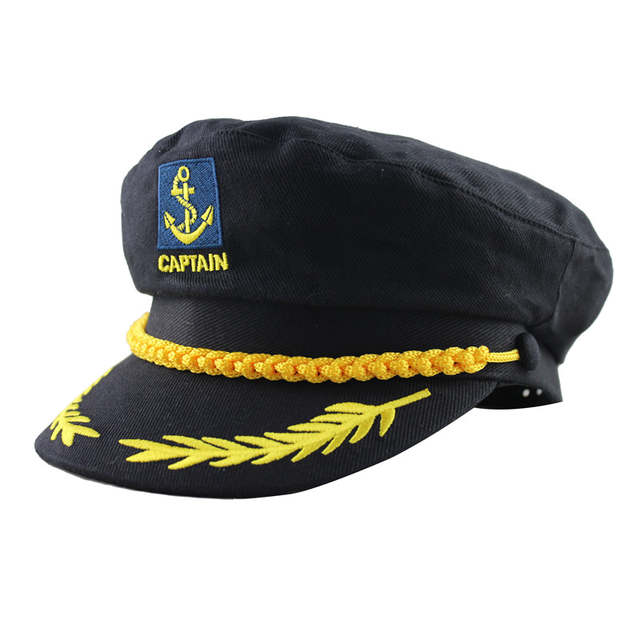 d79bdbf20ca28 Adult Captain Costume Boat Yacht Ship Sailor Navy Captain Hat Party Cosplay  Cap Sea Boating Nautical