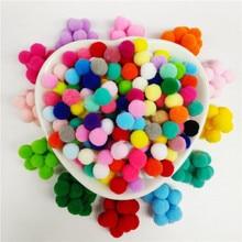 600Piece Pompom 8mm Soft Pompones Fluffy Plush Pom Poms Ball Furball Crafts Toys DIY Home Decoration Sewing Supplies Accessories
