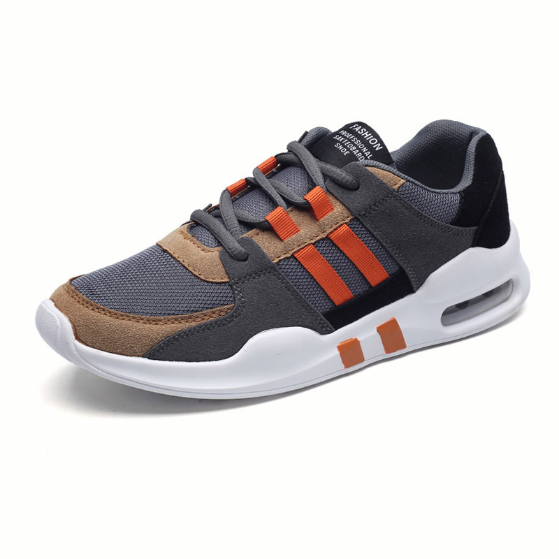 2018 new Air Cushion Running shoes men sport sneakers Male Breathable Canvas Sport super light Light Trainers walking tennis
