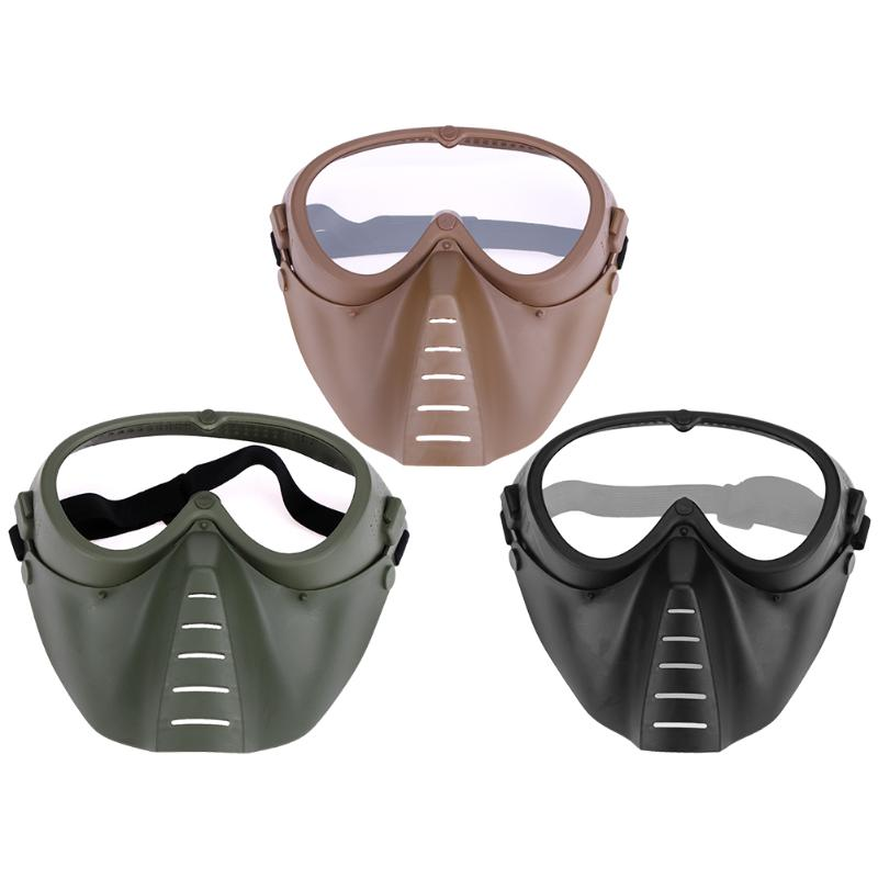 1Pcs Tactical Outdoor CS Full Face Mask Shock Resistance CS Game Paintball Shooting Outdoor Goggles Protection Mask for Military