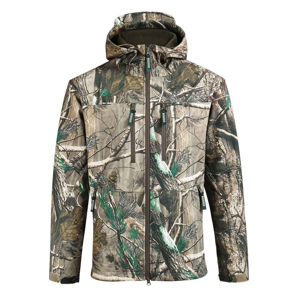 SAENSHING Waterproof Hunting Jacket Men Softshell Camouflage Tactical Jackets Male Fleece Soft Shell Outdoor Camo Fishing Coat outdoor breathable softshell jacket men s black tactical hunting waterproof windproof jacket soft shell with fleece lining