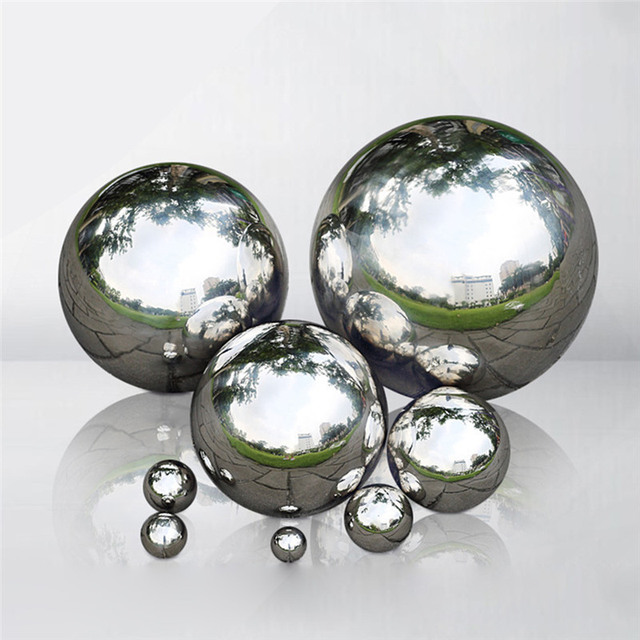 Stainless Steel Ball Sphere Mirror Hollow Ball Home Garden